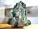Emerald in a quartz and pegmatite matrix