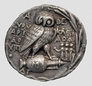 Greek coin tetradrachme panathenaic games-2
