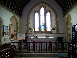 Interior of St Mary's Church, Tyneham - geograph.org.uk - 561039