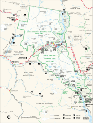 Map of North Cascades National Park