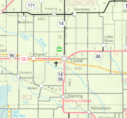 KDOT map of Rice County (legend)