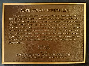 Markleeville Courthouse Plaque