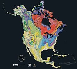 North america terrain 2003 map