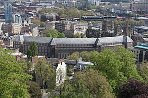 Rear of Bristol City Hall from Cabot Tower
