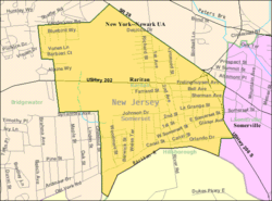 Census Bureau map of Raritan, New Jersey