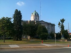 The Cape Girardeau County courthouse in Jackson, MO