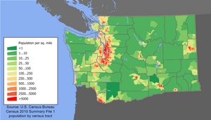 Washington population map
