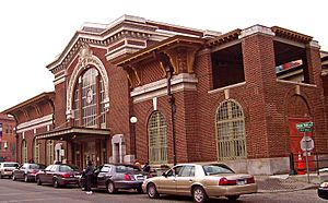 Yonkers train station front