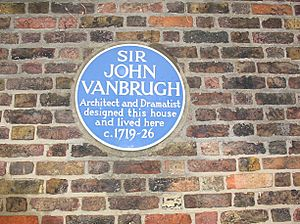 Blue plaque to Sir John Vanbrugh - geograph.org.uk - 1145174