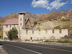 The old Cottonwood Paper Mill built in 1883 by the Deseret News in Cottonwood Heights.
