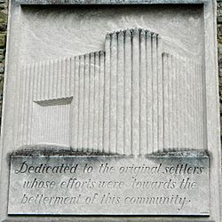 Relief on the Borough Hall
