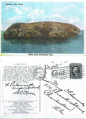 Indian Head Rock postcard by H. A. Lorberg-postmark 1920