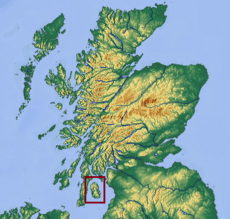 Isle of Arran locator