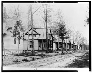 Photographic copy of photograph (date unknown, original print in the possession of the Wisconsin Veterans Museums). SEVEN COTTAGES. VIEW UNKNOWN. - Wisconsin Home for Veterans, HABS WIS,68-KING,1-8