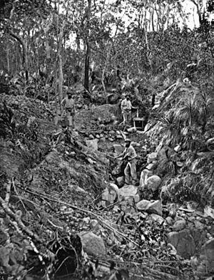 StateLibQld 1 137103 Goldminers prospecting, ca. 1870