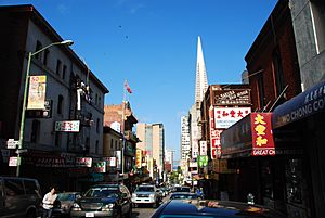Washington Street in Chinatown, San Francisco