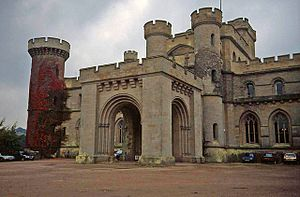 Front entrance to Eastnor Castle - geograph.org.uk - 1468597