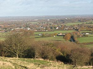 Hassocks viewed from the S Downs 1108
