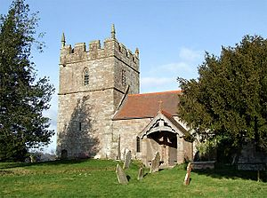 Holy Trinity Church at Holdgate, Shropshire - geograph.org.uk - 671791.jpg
