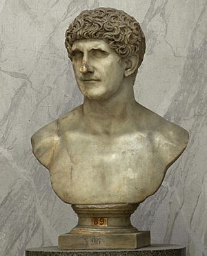 Marcus Antonius marble bust in the Vatican Museums