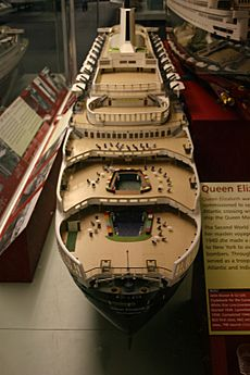 RMS Queen Elizabeth model