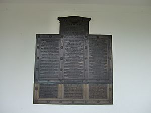 Temple of Arethusa, Kew Gardens - War memorial