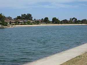 The man made lake at West Lakes Shore