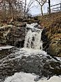 Waterfall at Beaver Brook Reservation in Belmont MA Massachusetts near Waverly Oaks in Waltham MA