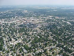 Aerial view of downtown Findlay