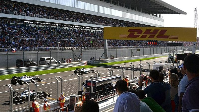 F1 Grand Prix Russia 2014 start lane
