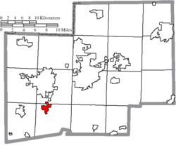 Location of Navarre in Stark County