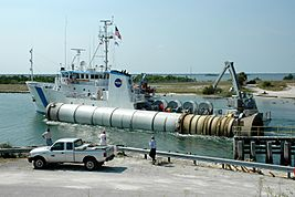 STS-114 booster recovery