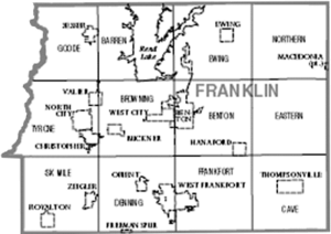 Map of Franklin County, Illinois