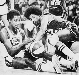 David Thompson and Julius Erving