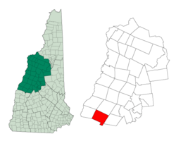 Location in Grafton County, New Hampshire