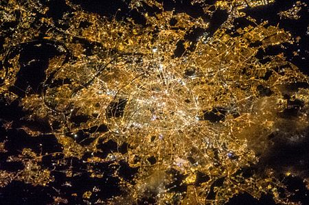ISS-35 Night image of Paris, France