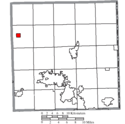 Location of West Farmington in Trumbull County
