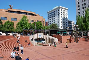 Pioneer Courthouse Square - west half