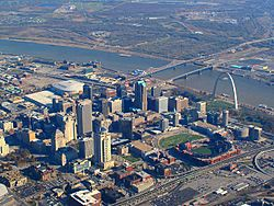 Aerial view of St. Louis, Missouri, 2008-11-19 edit