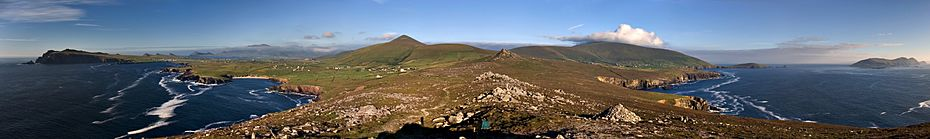 Dingle peninsula panorama crop