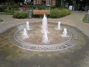 Enfield Library Green Fountain