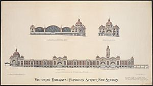 Flinders Street Station competition winning elevations