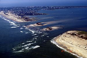 Hatteras Island damage by Hurricane Isabel