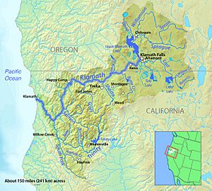 List Of Rivers Of California For Kids Kiddle - Map of california rivers