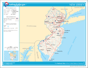 Map of New Jersey NA