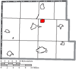 Location of Holiday City in Williams County