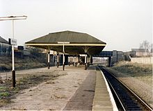 Atherton railway station in 1989