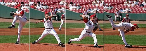 Baseball pitching motion 2004