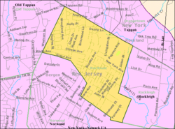 Census Bureau map of Northvale, New Jersey