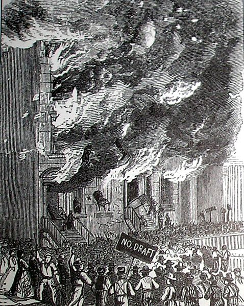Fire on Lexington Avenue - New York Draft Riot of 1863